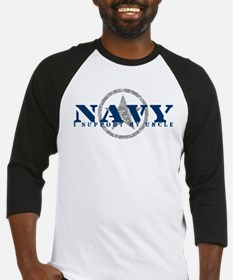 Navy - I Support My Uncle Baseball Jersey