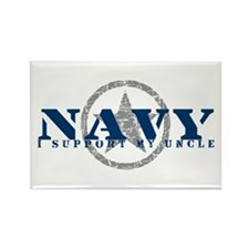 Navy - I Support My Uncle Rectangle Magnet