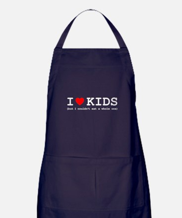 I Love Kids - But I Couldn't Eat A Wh Apron (dark)