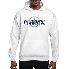 Navy - I Support My Son Jumper Hoody