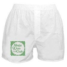 Abuja Wine Club Green Checks Boxer Shorts