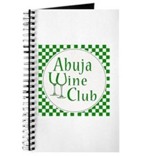 Abuja Wine Club Green Checks Journal