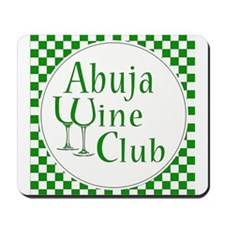 Abuja Wine Club Green Checks Mousepad