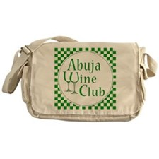 Abuja Wine Club Green Checks Messenger Bag