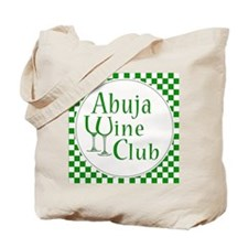 Abuja Wine Club Green Checks Tote Bag