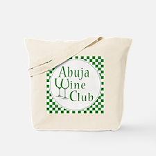 Abuja Wine Club Green Checks Tote Bag