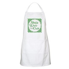 Abuja Wine Club Green Checks Apron