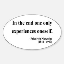 Nietzsche 2 Oval Decal