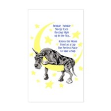 Great Dane Merle Twinkle Rectangle Decal
