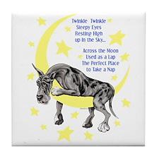Great Dane Merle Twinkle Tile Coaster