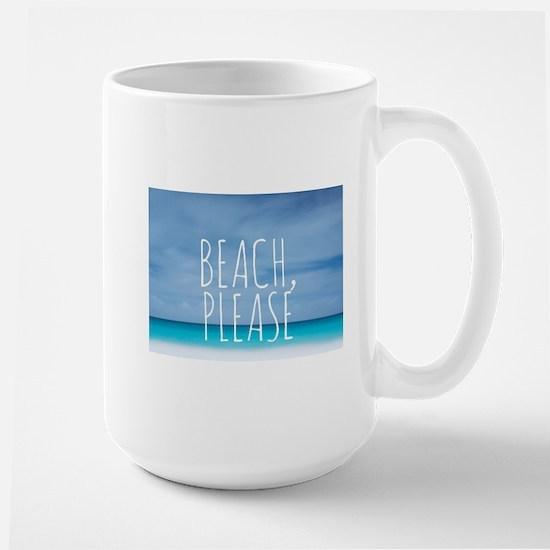 Beach please funny tropical hipster Large Mug