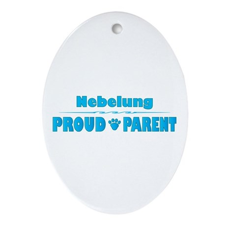 Nebelung Parent Oval Ornament