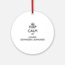 Keep calm by loving Schweizer Lau Ornament (Round)