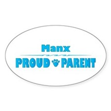 Manx Parent Oval Decal