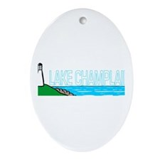 Lake Champlain Oval Ornament