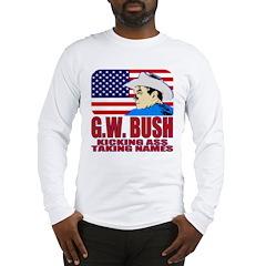 Kicking Ass World Tour (F/B) Long Sleeve T-Shirt