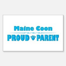 Maine Coon Parent Rectangle Decal