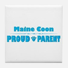 Maine Coon Parent Tile Coaster