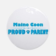 Maine Coon Parent Ornament (Round)