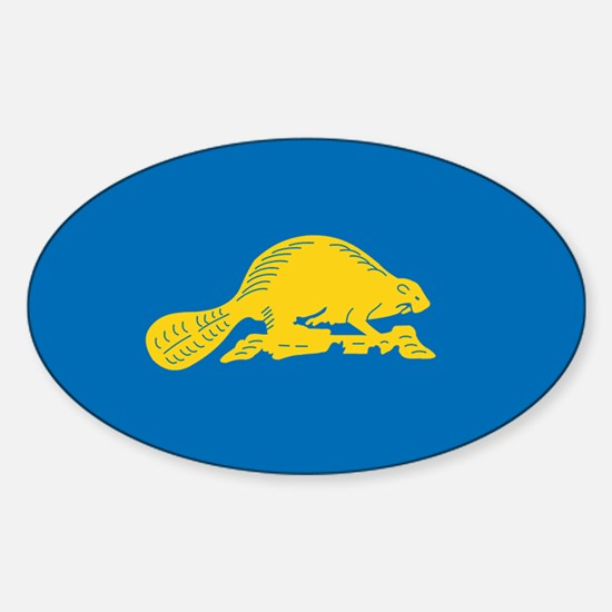 Funny State of oregon Sticker (Oval)