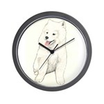 Samoyed Puppy Wall Clock