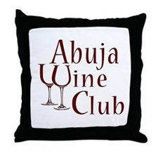 Abuja Wine Club Throw Pillow
