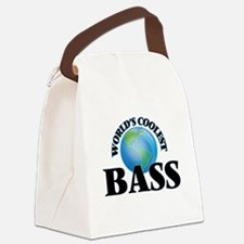 World's Coolest Bass Canvas Lunch Bag