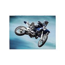 Dirt Bike Jump 5'x7'Area Rug