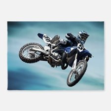 Dirt Bike Jump 5'x7'Area Rug
