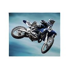 Dirt Bike Jump Throw Blanket