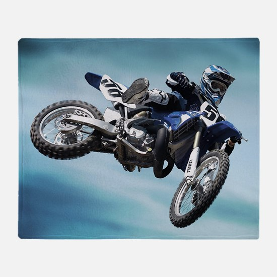 Dirt Bike Jump Throw Blanket