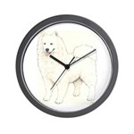 Samoyed Dog Wall Clock