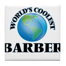 World's Coolest Barber Tile Coaster