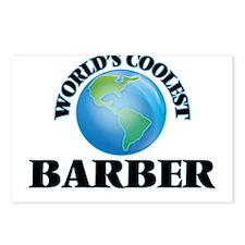 World's Coolest Barber Postcards (Package of 8)