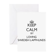 Keep calm by loving Swedish Lapphun Greeting Cards