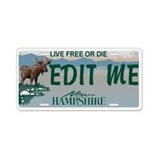 New Hampshire Moose Replica Aluminum License Plate