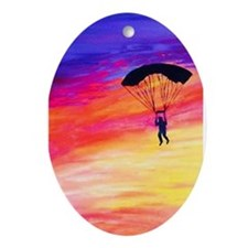 Into The Sunset Ornament (Oval)