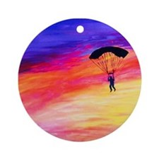 Into The Sunset Ornament (Round)