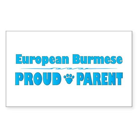Burmese Parent Rectangle Sticker