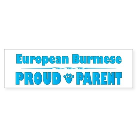 Burmese Parent Bumper Sticker