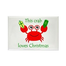 Christmas Crab Rectangle Magnet