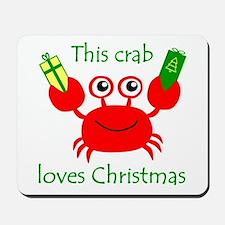 Christmas Crab Mousepad
