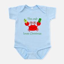 Christmas Crab Infant Bodysuit