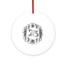25th Silver Anniversary Ornament (Round)