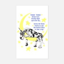 Great Dane Harle Twinkle Rectangle Decal