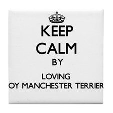 Keep calm by loving Toy Manchester Te Tile Coaster