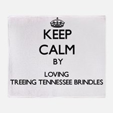 Keep calm by loving Treeing Tennesse Throw Blanket