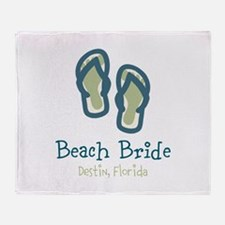 Personalize Flip Flops Throw Blanket