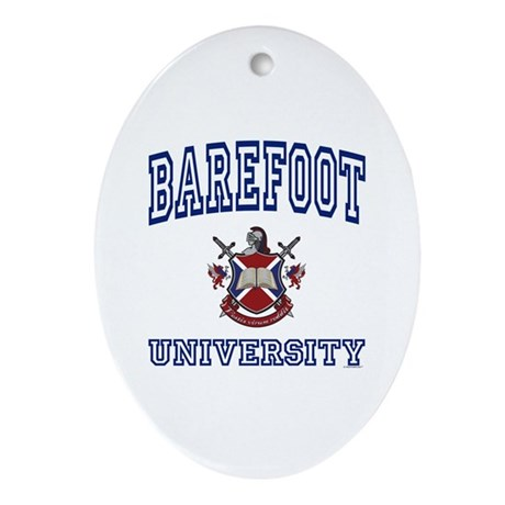 BAREFOOT University Oval Ornament