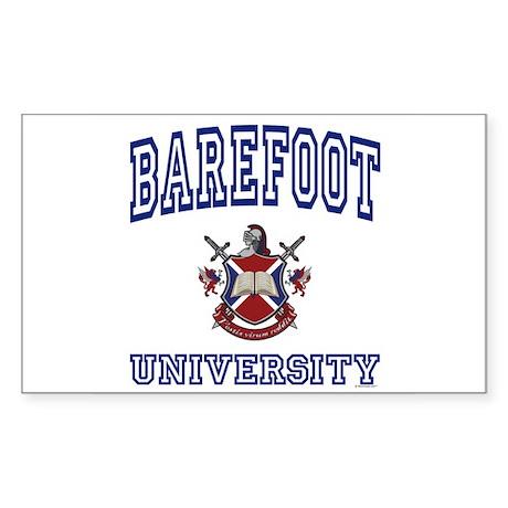 BAREFOOT University Rectangle Sticker